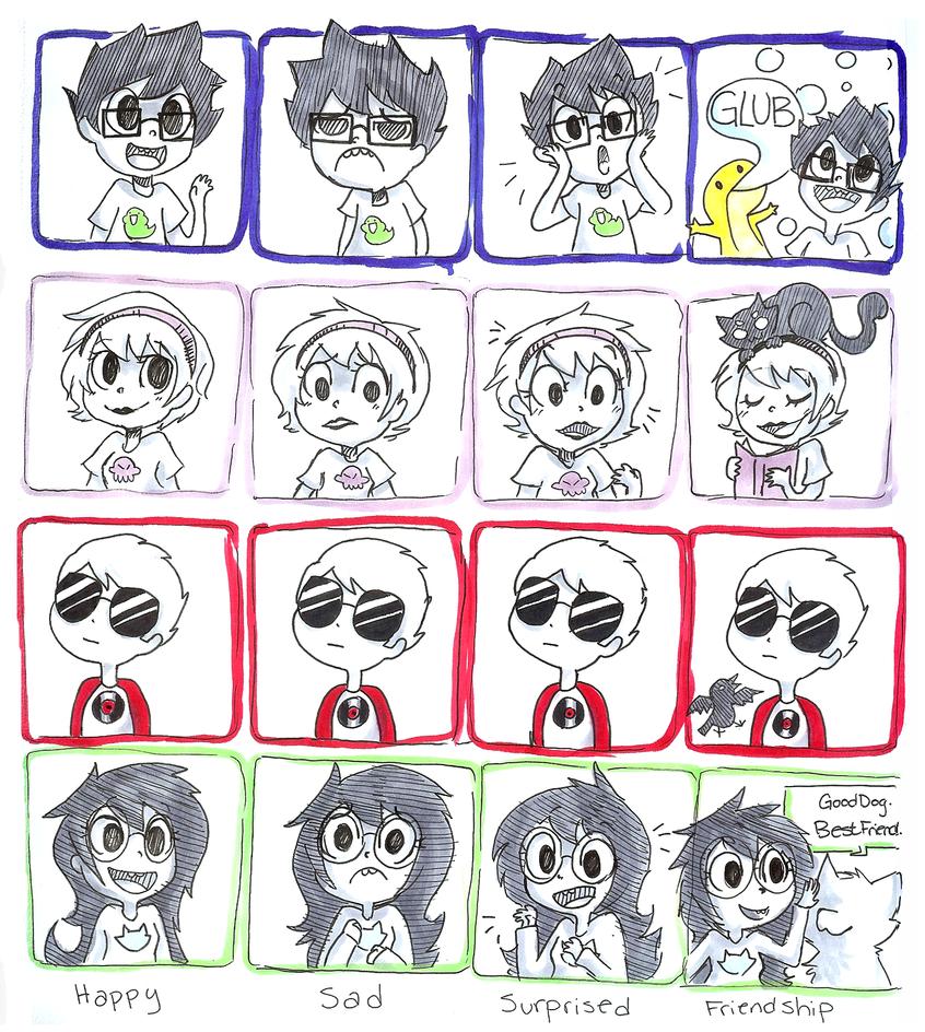 kid emotions by rizusaur