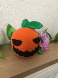 Jack O Lantern Pumpkin Plush by DynamicFlamez