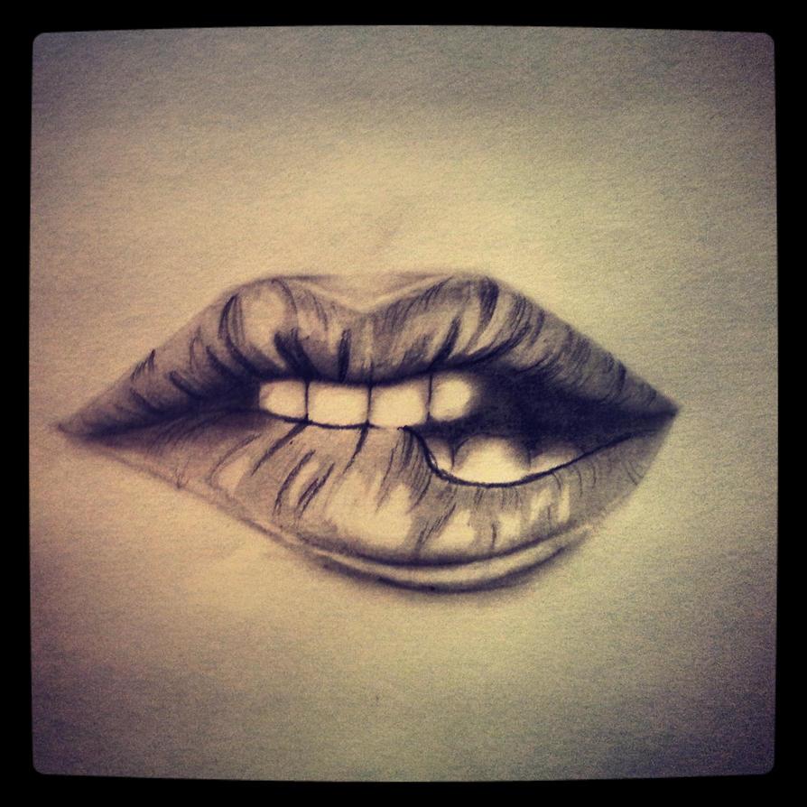Biting Lips by AngelicEuphoria on DeviantArt
