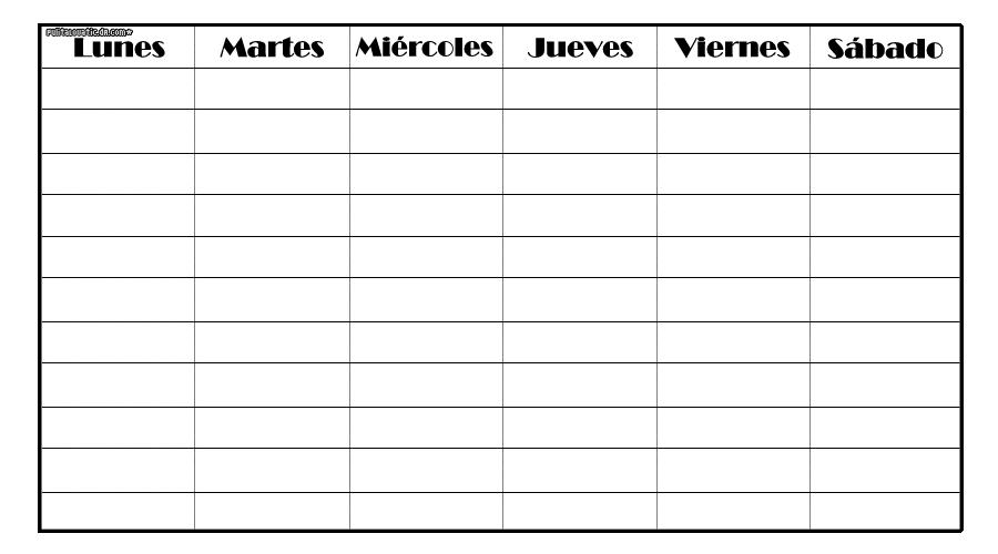 Horarios semanales. by PaulitaLovatics