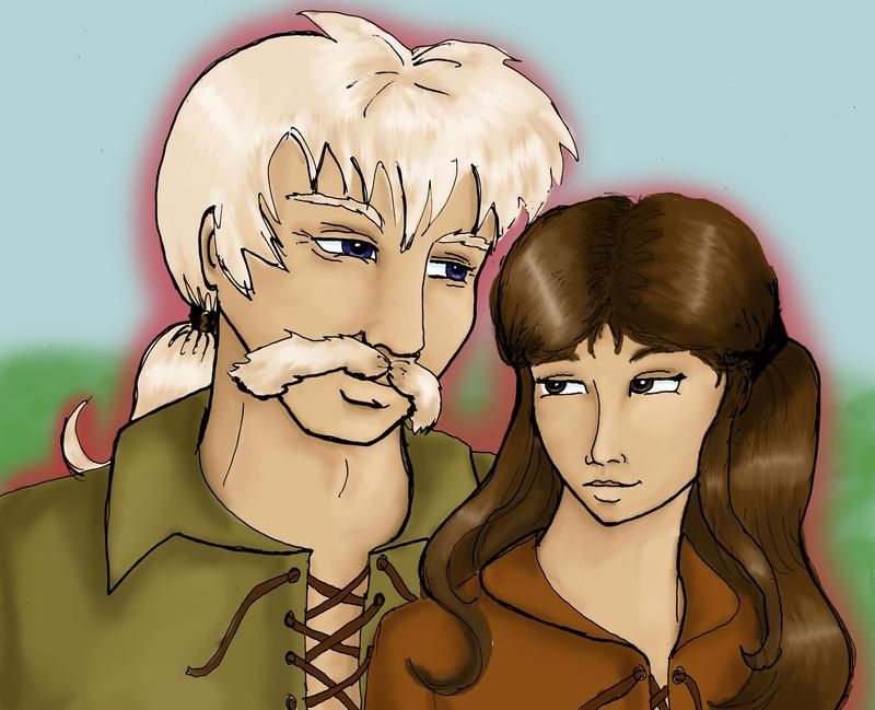 Kenyon and Riana by girl-n-herhorse