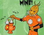 Larfleeze Meets Finding Nemo
