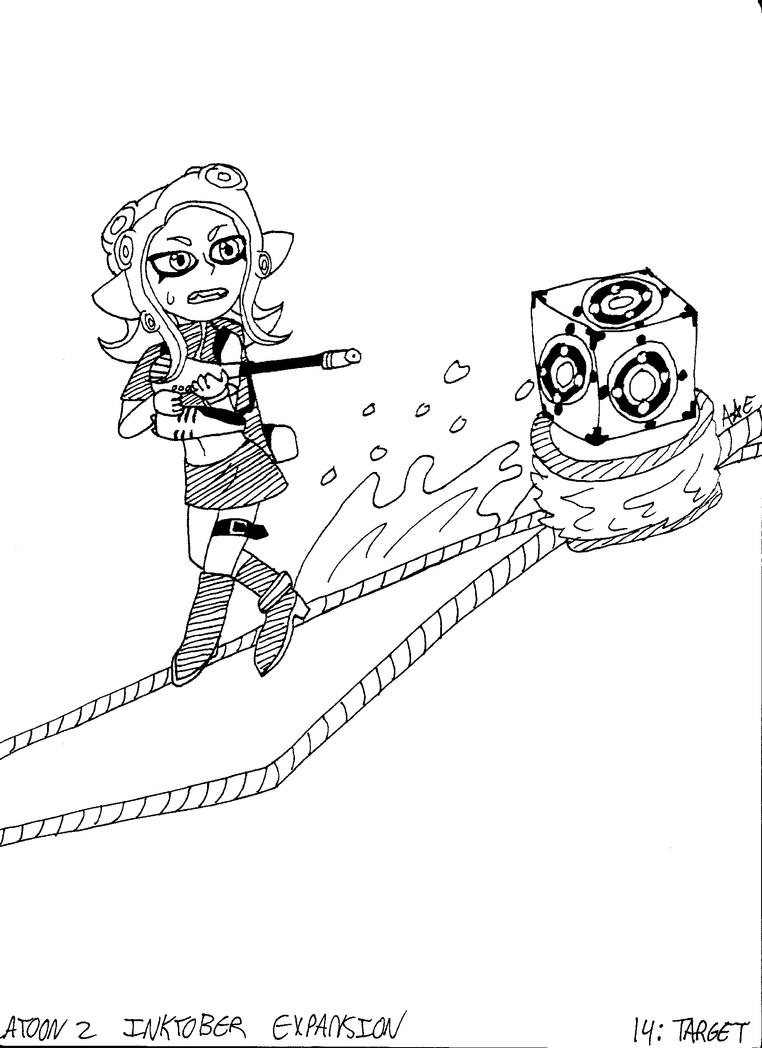 Splatoon 2 Inktober Expansion 14: Target by PrinsesDaisyfanfan1