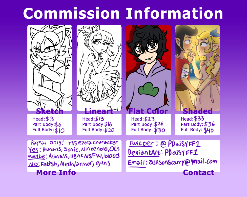 Commission Sheet by PDaisyFF1