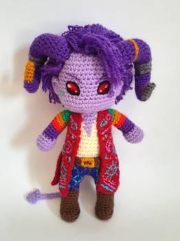 Mollymauk Tealeaf amigurumi doll (Critical Role)