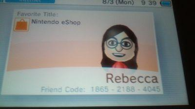 This my new 3DS Friend Code by Becky123190