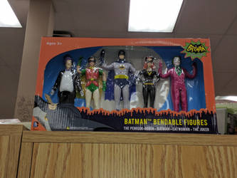 Adam West Batman Toy set