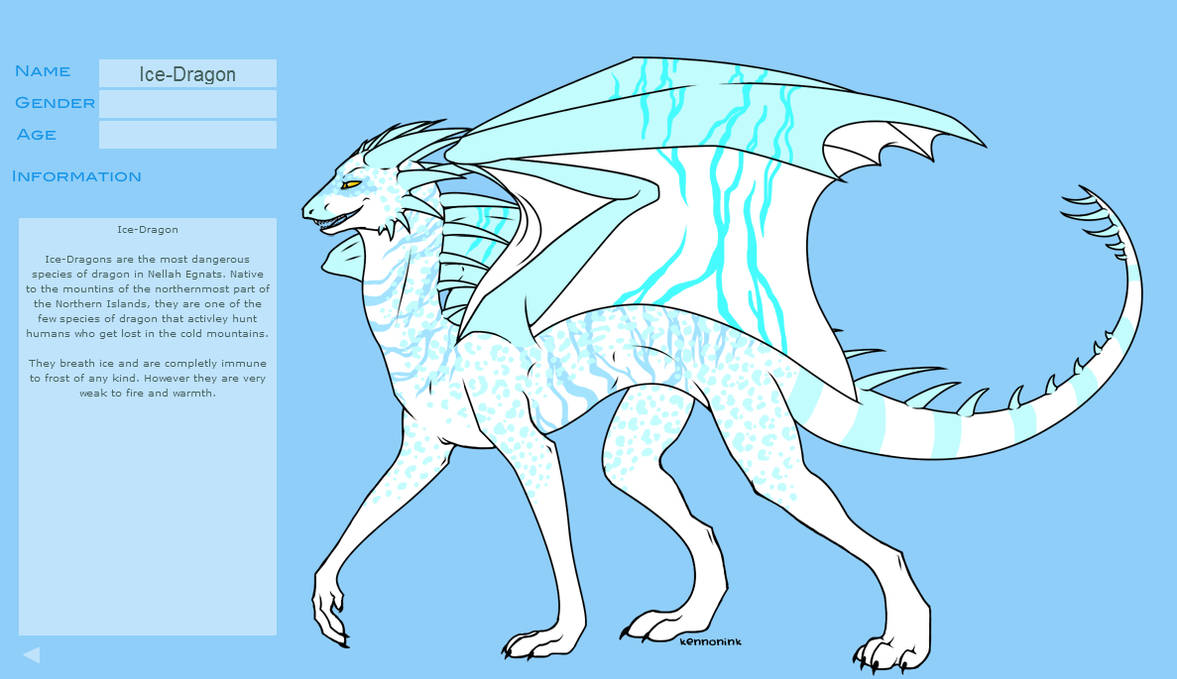 Ice-Dragon by MCMIVC on DeviantArt