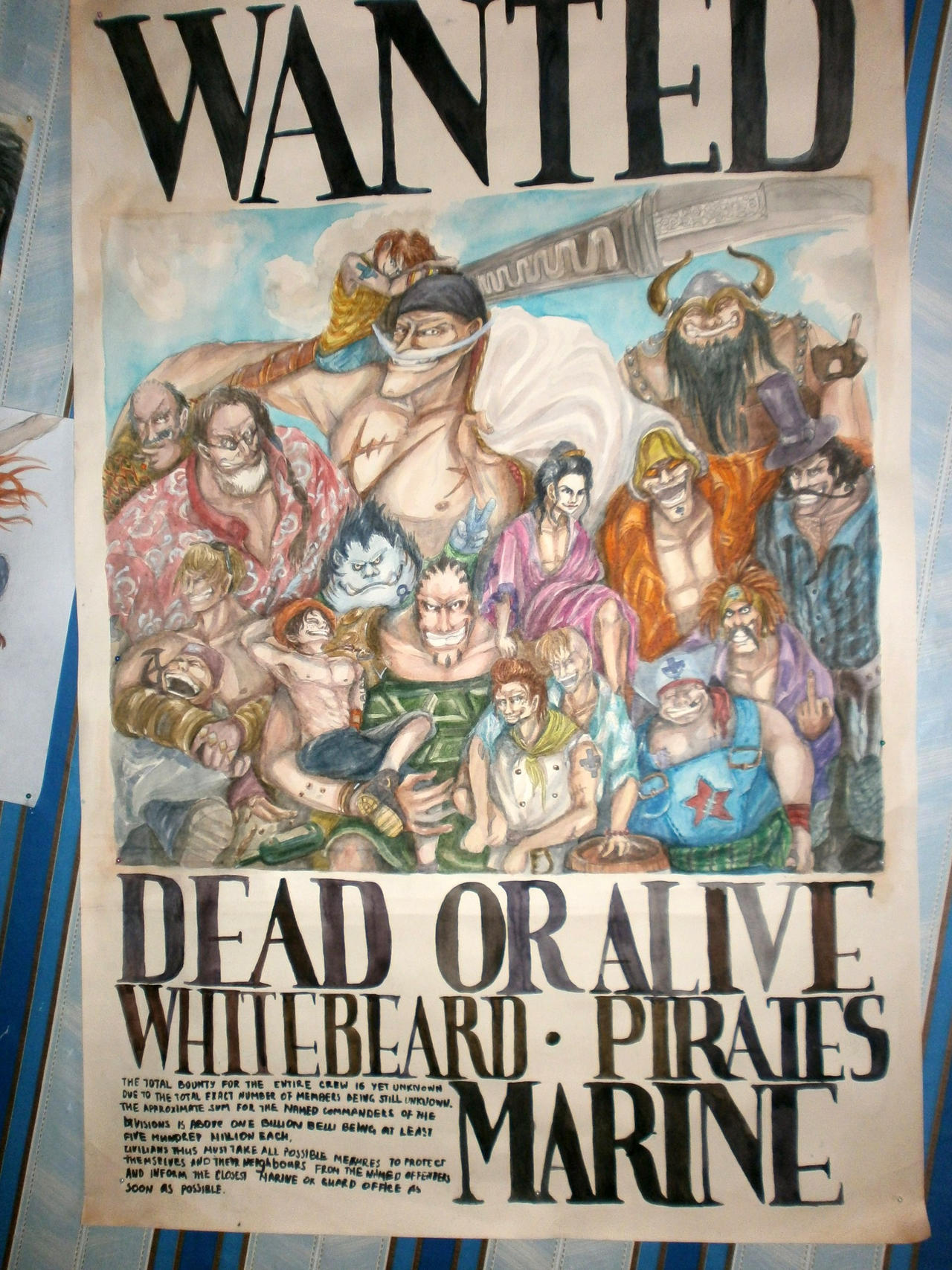 Whitebeard Pirates - Wanted Poster by FuckShinigami on ...