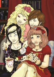 Tea party at the Night Cafe