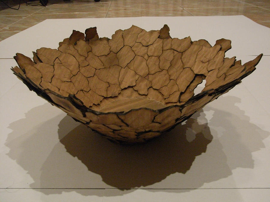 cracked earth bowl by BlueBird58