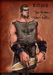 Titus Pullo by Wangyuxi