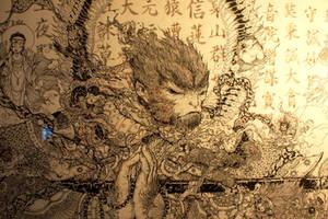 monkey king-the detail by Wangyuxi
