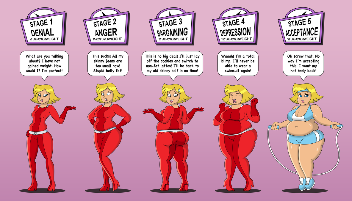Deviantart Giantess Weight Gain: Clover And The Stages Of Weight Gain By LordStormCaller On