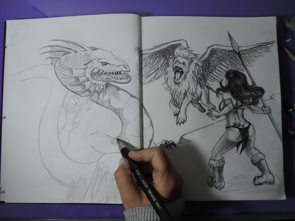 Sketchbook by leidanogueira