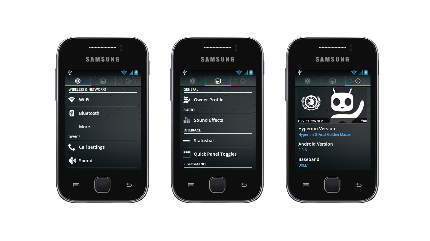 ROM] HYPERION 8 GM FINAL BUILD for Galaxy y - Android Hardcore