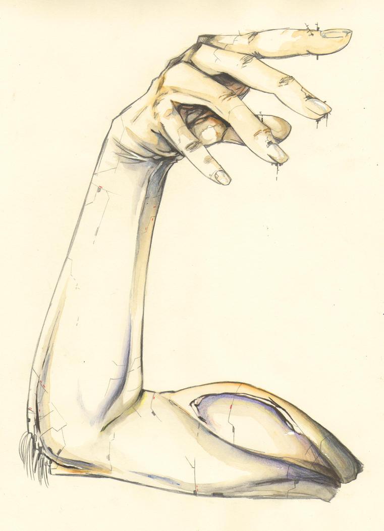 Cyborg arm by hinomars19