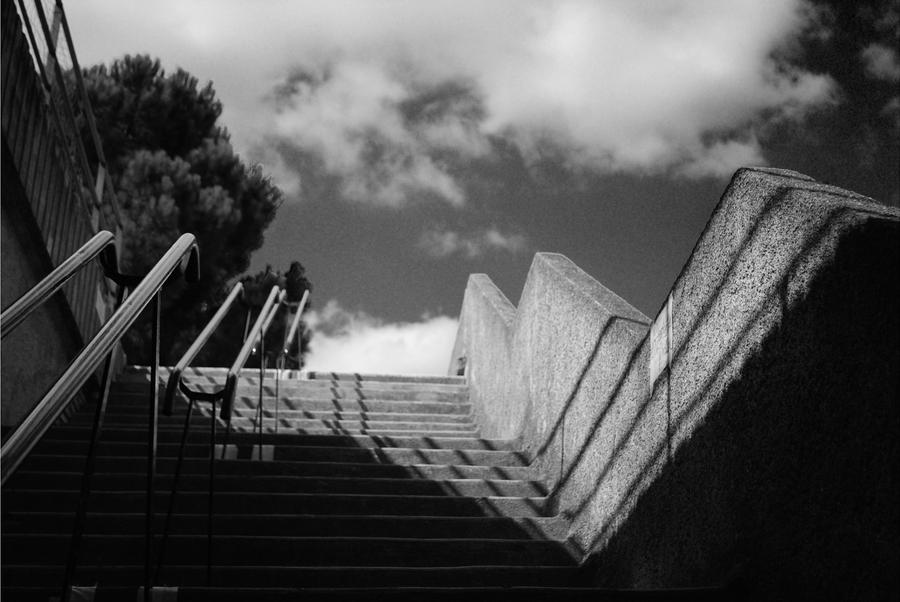 stairs in France. by ellmejkr