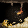 Pikachu in a Cave by ScorchTheCyndaquil