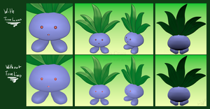 Oddish (My first ever finished model in Blender!)