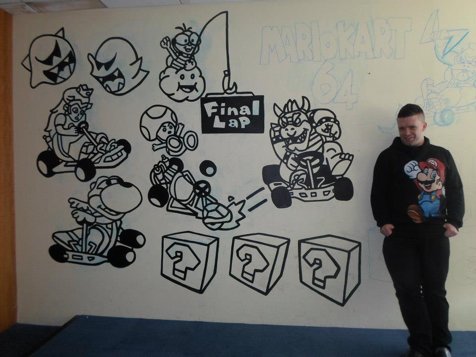 Mario kart wall mural by mural eyecandy on deviantart for Candy wall mural