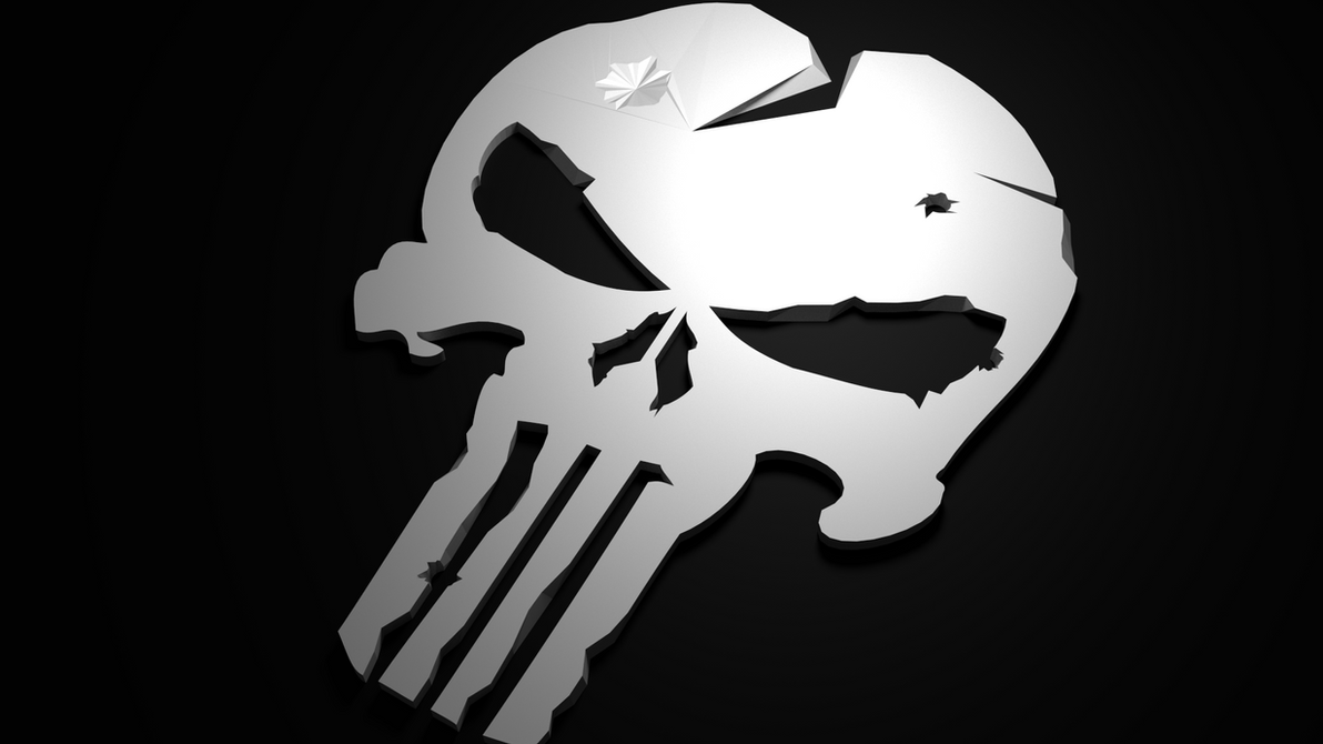 Punisher Logo Low Polly Render : Blend By Kidus333 On