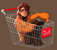 Push Me Down A Hill In A Shopping Cart