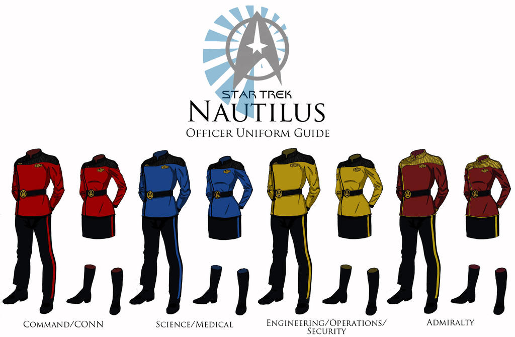 starfleet uniforms by christian lee on deviantart rh deviantart com star trek tng uniform color guide Star Trek Shirt Colors