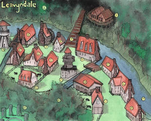 Leavyndale Town Map by Christian-Lee