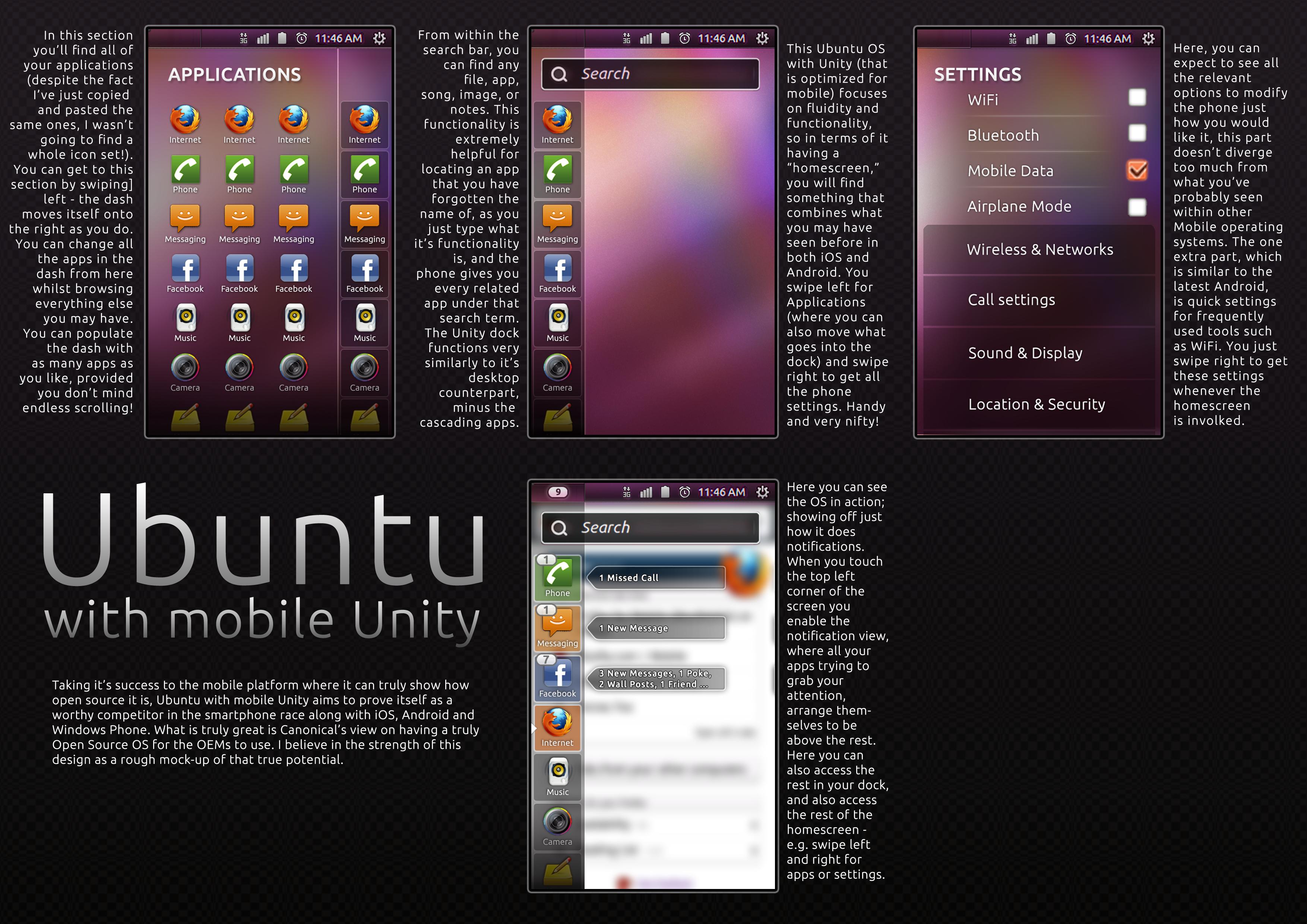 Ubuntu with mobile Unity