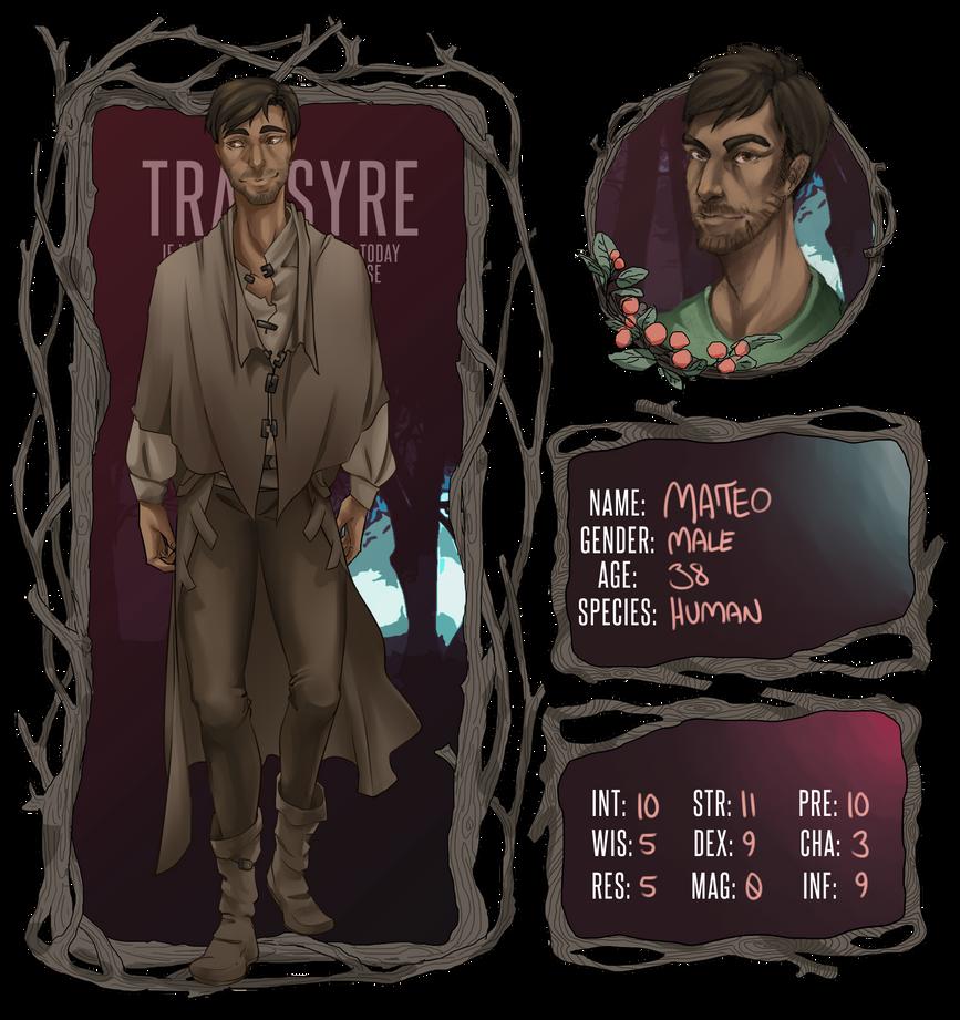 Transyre: Mateo Hardwidge by DarkerPersnicketer