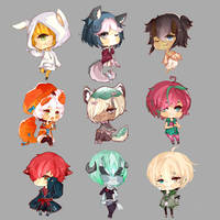 C:| Mini chibi batch 4 by IoriNobu