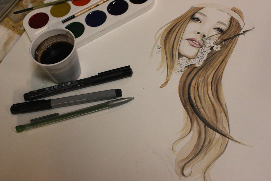 Painting with coffee by tweetyhanh on deviantart for Painting with coffee