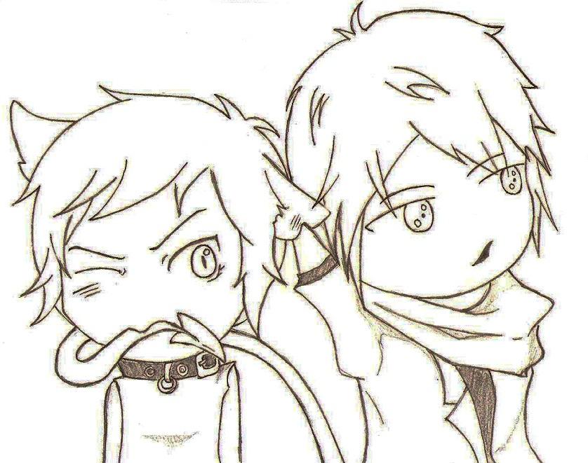 Vitsui and Mori by KooriAkuma