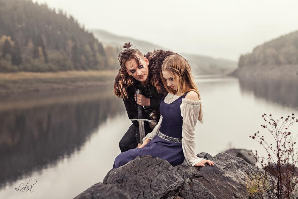 The Vikings - Floki and Helga by Lobagalore