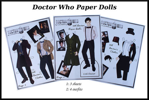 11th Doctor Who paper doll