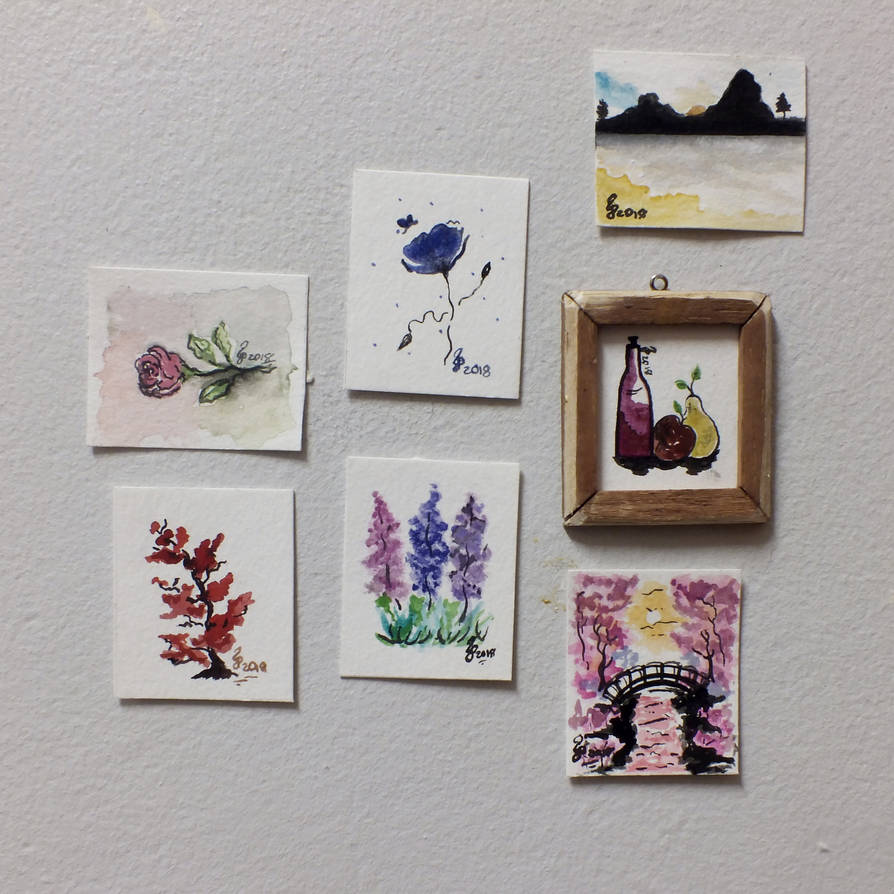 Miniature Painting's Up For Sale On Etsy by Cecilia-Pekelharing