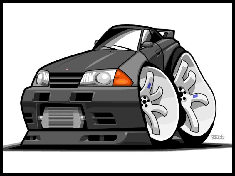 Cartoon Nissan Skyline Nissan Skyline R32 gt r by