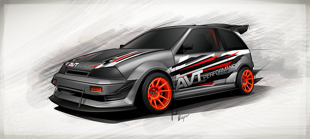 Subaru Justy 4x4 Impression sketch by JacobKuiper