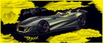 Aston Martin DB-XX Concept sketch by JacobKuiper