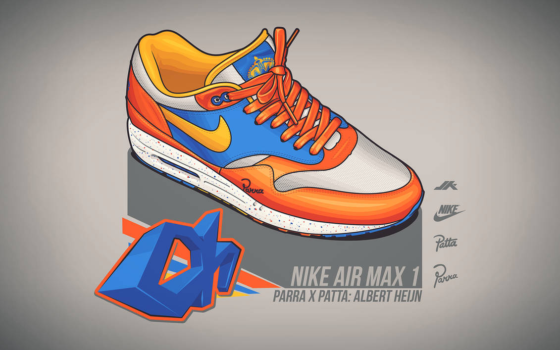 9b70b784ad Nike Air Max 1 Albert Heijn by JacobKuiper on DeviantArt