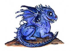 Cute Dragons: Blue by gpalmer