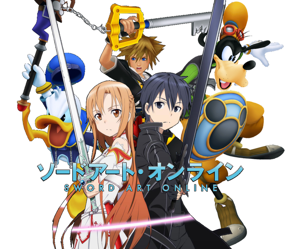 sword art online kingdom hearts crossover 1 by puppetofdarkness on