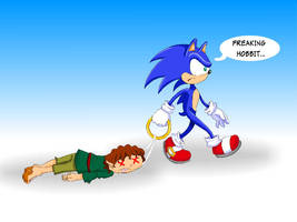 Secret Santa - Sonic x hobbit by heglys