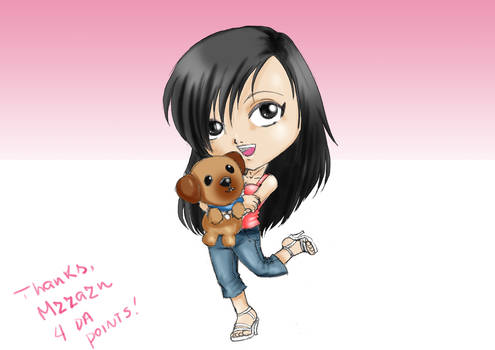 Chibi MzzAzn and her dog