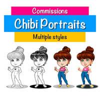 Chibi Portraits Commissions open!