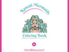 Kawaii Mermaids Coloring Book Game