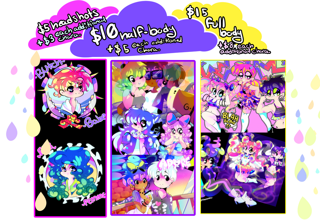 Commission Prices!!! (SORRY FIXED FINALLY) by UsagiTurtle