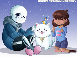 Undertale Third Anniversary by SuperBecky