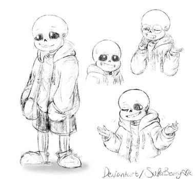 Sans Sketches by SuperBecky
